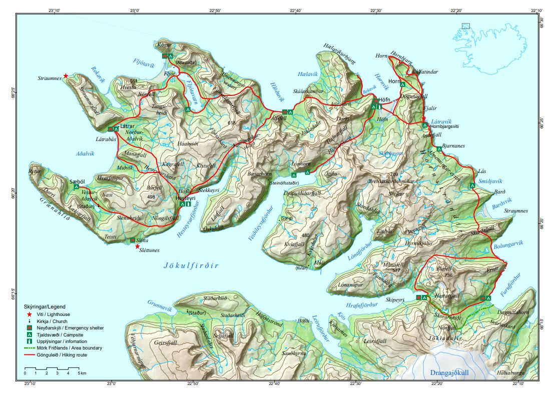 Map Hornstrandir